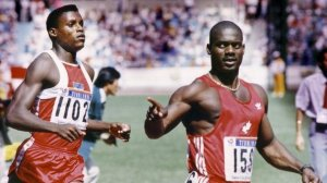 Ben Johson and Carl Lewis