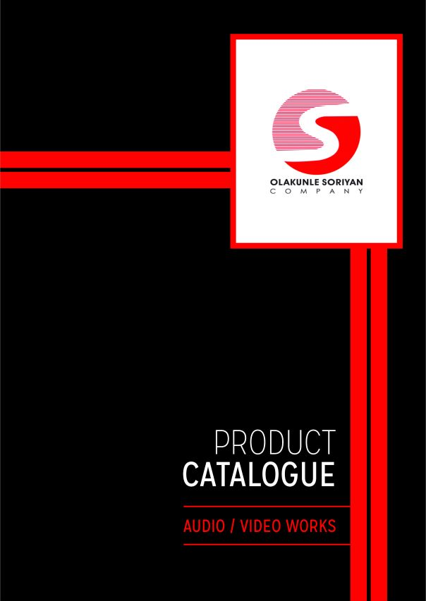 product catalogue main page