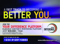 To join Olakunle SORIYAN's Mentoring Platform, Please Call, +234-8128118884
